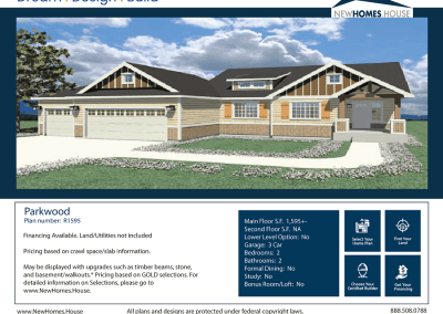 Parkwood 1,595 s.f. Homeplan from CDAhomeplans.com