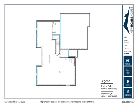 Ashland single story home plan from CDAhomeplans.com Optional Lower Level Page