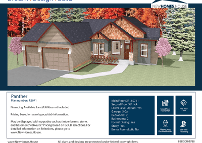 Panther 2,071 s.f. Homeplan from CDAhomeplans.com