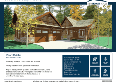 Pend Oreille 2,293 s.f. Homeplan from CDAhomeplans.com