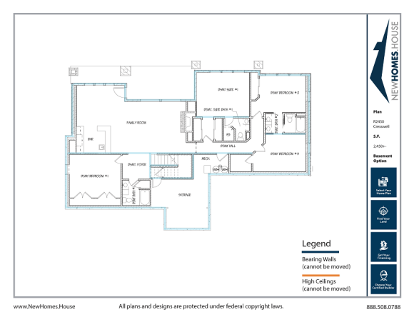 Cresswell single story home plan from CDAhomeplans.com Optional Lower Level Page