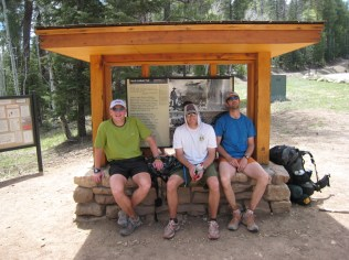 Chris, Michael and I relax on the North Rim. I wasn't really as dead as I look here, really!