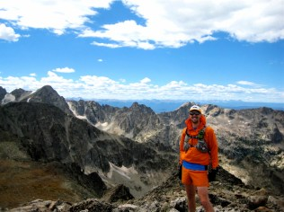 Happy trailrunner on Mt. Toll