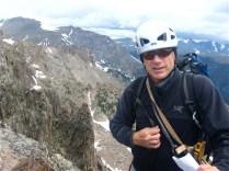 Fabio on the summit.