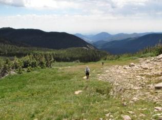 Stormy Peaks Pass trail