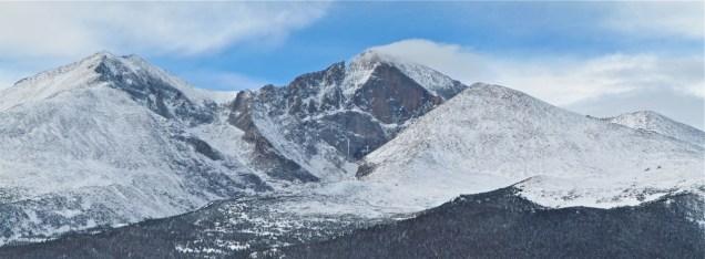 Longs Peak in all it's glory.