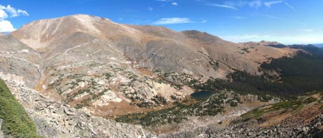 Mt. Fairchild and the Fay Lakes from Blitzen Ridge