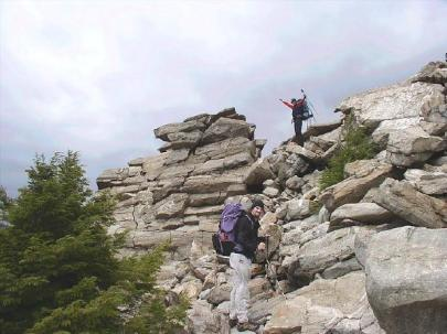 Dave reaches the ridgeline.