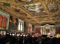 Oppulence abounds in Venice. This is the Scuolo Grande di San Rocco where we heard the Interpreti Veneziani.