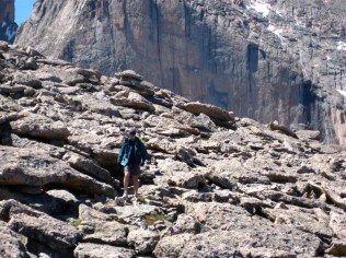 We hiked a lot of talus on this trip.