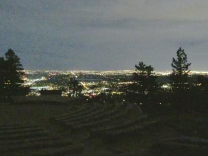 11 pm: Flagstaff Amphitheater by moonlight