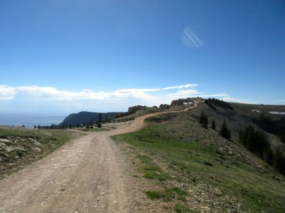 The road out to the Medicine Wheel