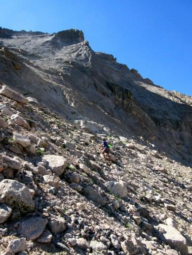 Brad pounds up the climb