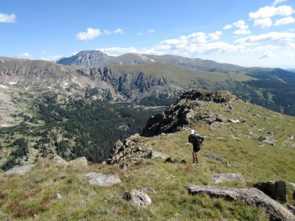 Finally on the ridge.