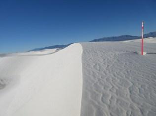 Sharp dune-crests