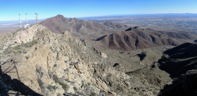 Looking north from the summit of South Franklin at the rest of the range.