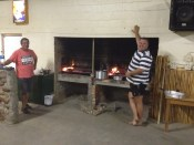 Our hosts at the Rondeberg cook us a braai.
