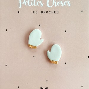 duo-broches-moufles en porcelaine CDA petites Choses