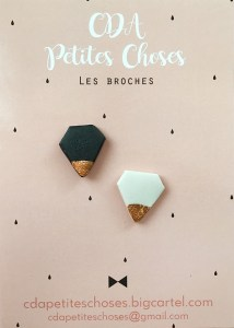 duo-broches-diams en porcelaine CDA Petites Choses