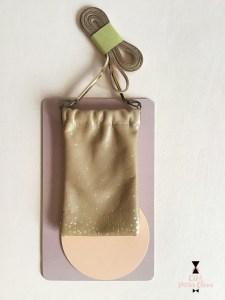 Etui lunette ou téléphone clic clac en cuir caramelCDA Petites Choses