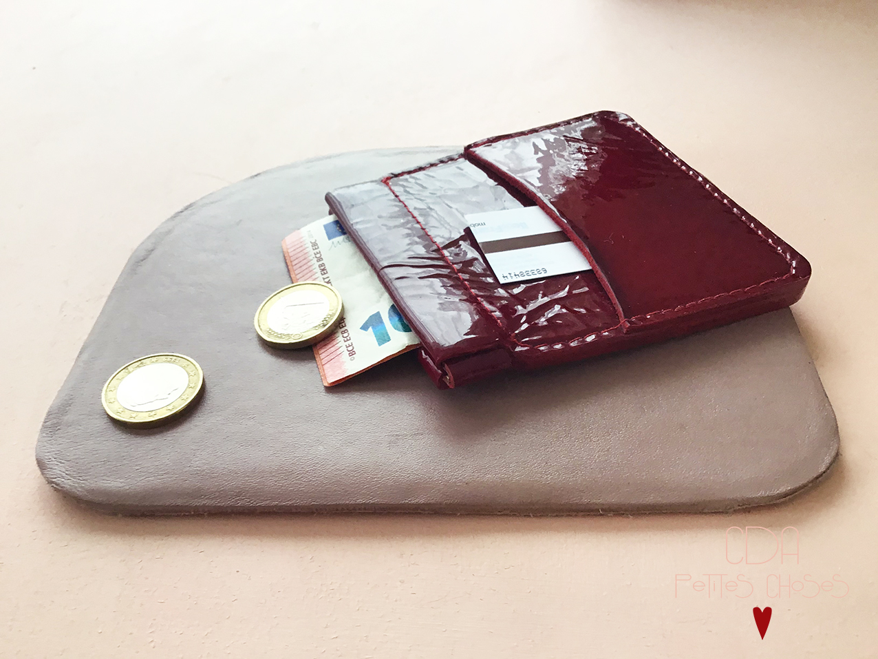 Porte monnaie en cuir CDA Petites Choses