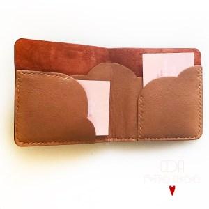 Porte cartes et billet en cuir terra cotta CDA Petites Choses