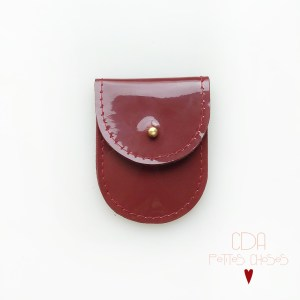 mini-pochette-en-cuir-vernis-rouge-1 CDA Petites Choses