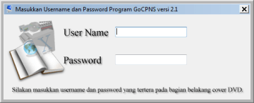 Username dan Password