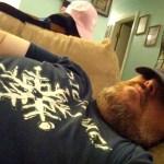 Crazy Dave Sleeping