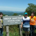 The Crew at Mt Mitchell, geocaching in reverse, backward geocaching