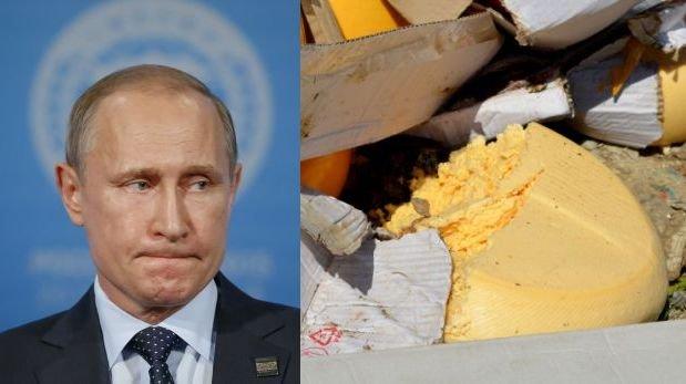 Putin ordena tirar a la basura alimentos occidentales