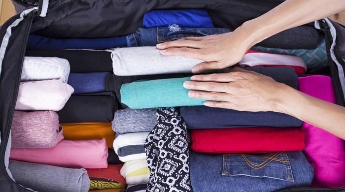 Resultado de imagen de colocar la ropa interior en una maleta