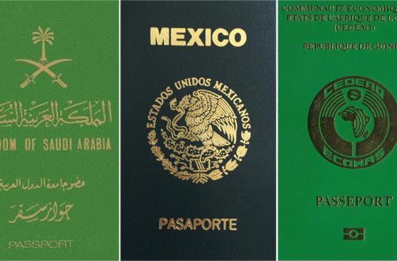 ¿Qué dice el color de pasaporte del país al que pertenece?