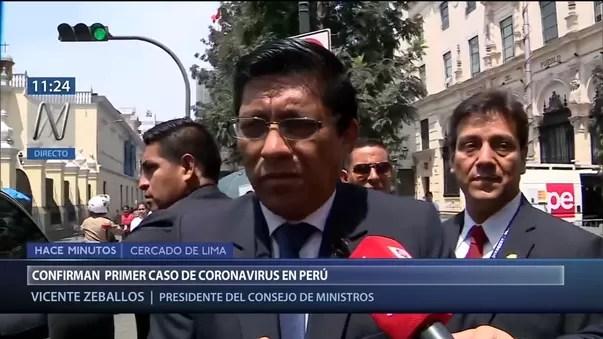 Vicente Zeballos afirma que coronavirus en Perú requiere la ...