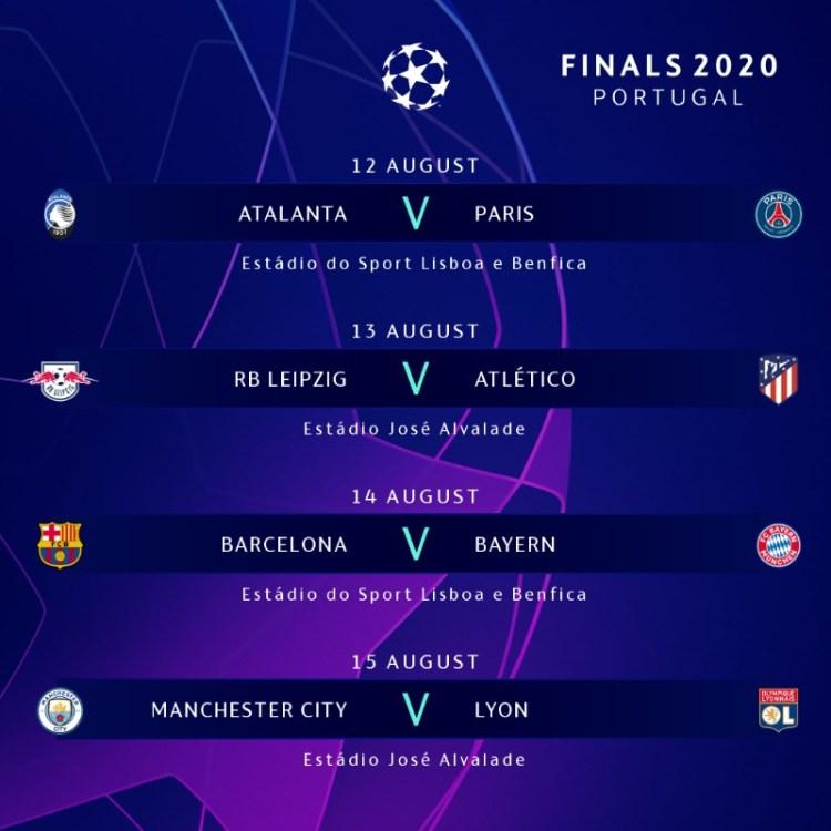 Champions League: Así quedaron conformadas las llaves de ...