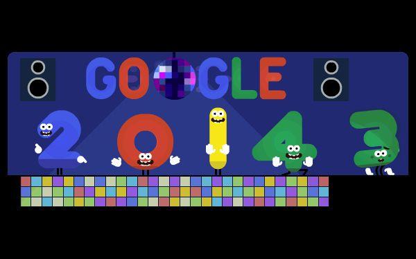 Así se ve el 'doodle' en los países donde ya es año nuevo.