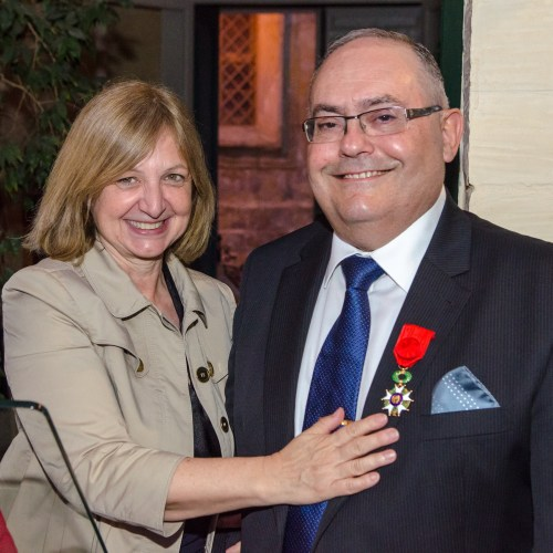 France's Officier de la Légion d'honneur Presented to  Joseph Bugeja, Maltese-French Chamber of Commerce President