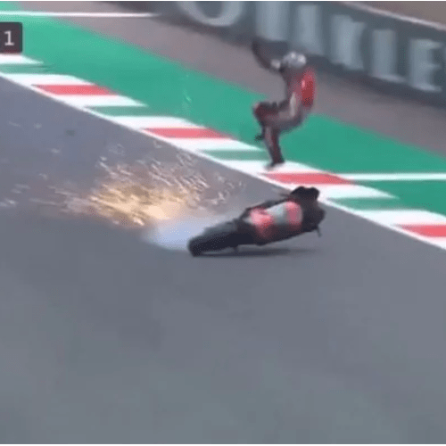 Tragedy averted in MOTO GP practice session at Mugello
