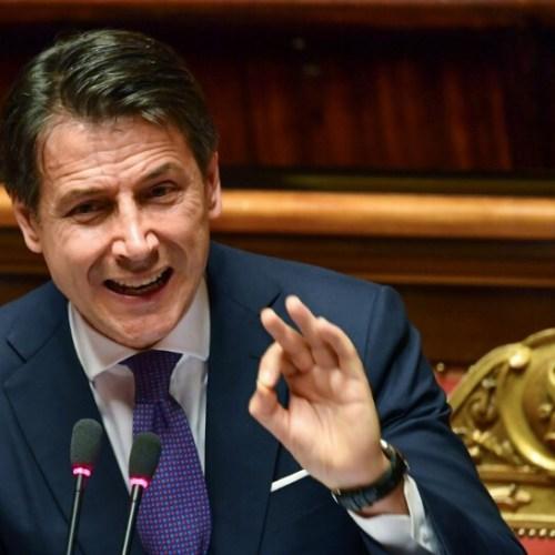 Conte's first speech in Parliament