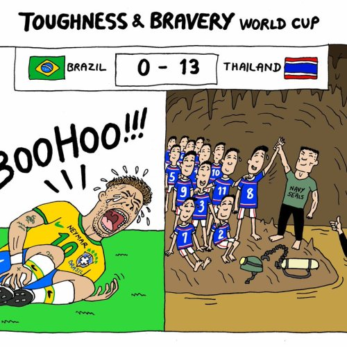 Rescued Thai Children too frail to attend World Cup