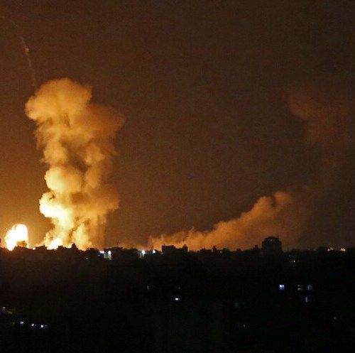 IDF soldier killed by fire on Gaza border, sparking wide-scale Israeli strikes