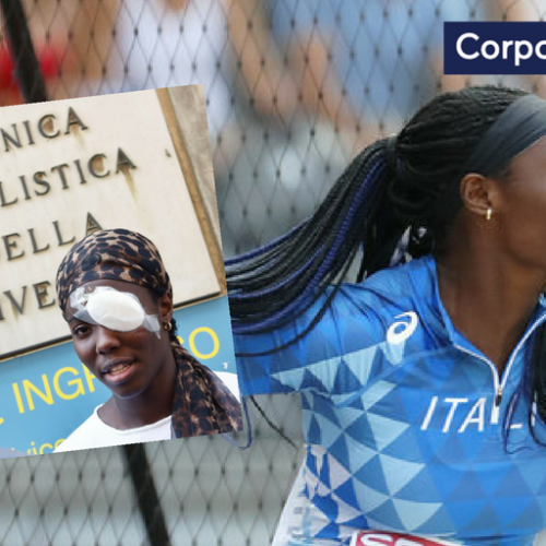 Daisy Osakue will compete for Italy in European final, days after drive-by attack that left her with black eye