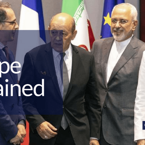 European diplomats vow to work together to preserve nuclear deal with Iran