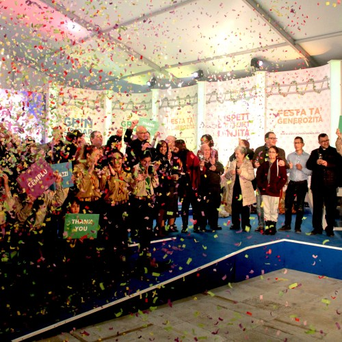 A record sum of €1,275,442 was raised during the New Year's day Feast of Generosity organised by Id-Dar tal-Providenza
