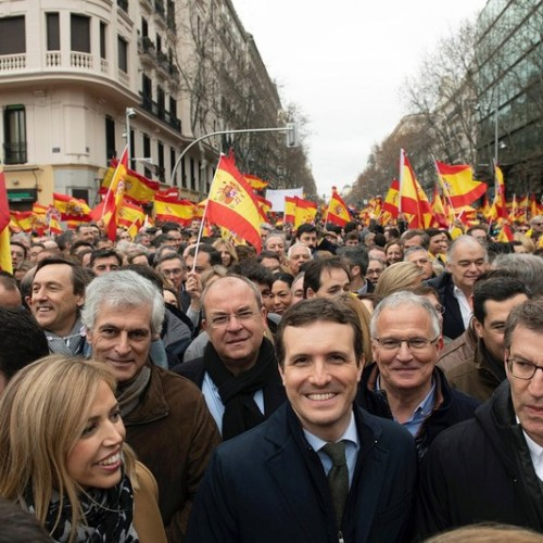 Spain's Prime Minister's plan to ease tensions with Catalan separatists met by demonstrations in Madrid