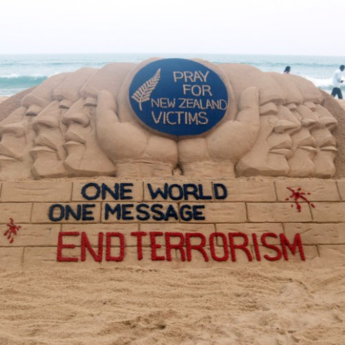 Photo Story – End Terrorism – Saying it with the sand