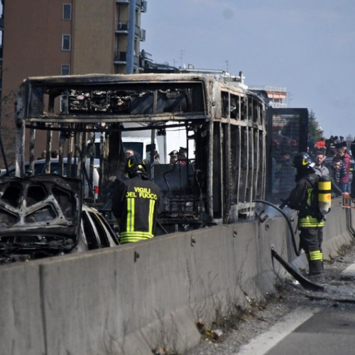 Bus full of students hijacked and torched in Italy