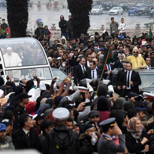 Alert after man ran towards motorcade carrying Pope Francis and Moroccan King