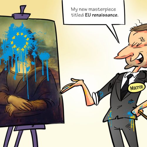 Cartoon Selection – Europe's Renaissance according to Macron