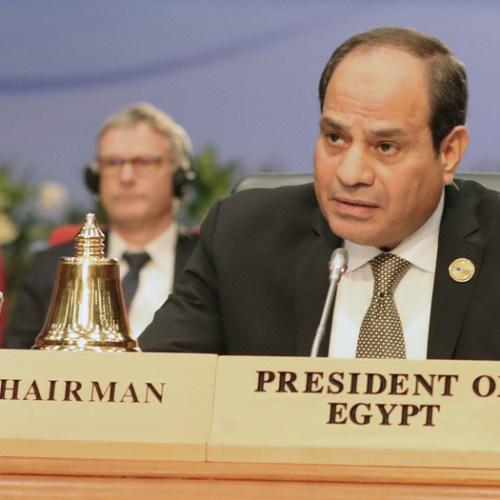 Egyptian President warns against dangers of protesting